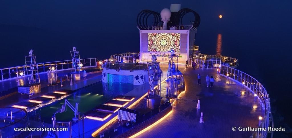 MSC Seaside - Miami Beach Pool - Lune rousse