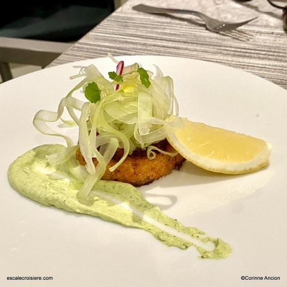 Ocean Cay restaurant - Gâteau de crabe