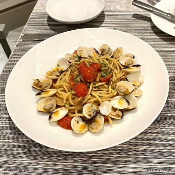 Ocean Cay restaurant - Pâtes à la Vongole