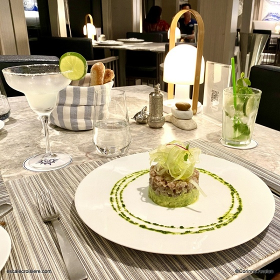 Ocean Cay restaurant - Tartare de thon avocat