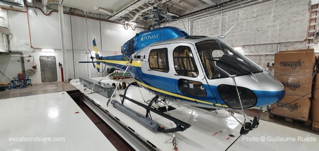 Le Commandant Charcot - Hélicoptère